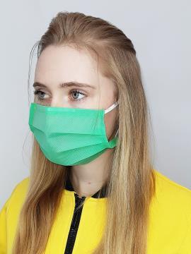 Фото товара: маска однослойная 003 зеленый. Вид 2.