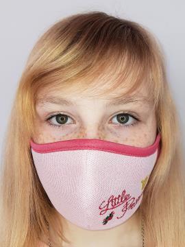 Фото товара: дитяча маска двошарова 006 рожевий. Вид 1.