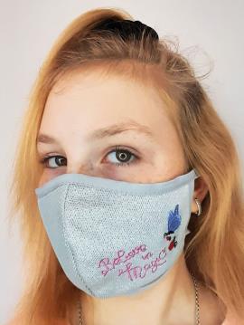 Фото товара: дитяча маска двошарова 009 срібло. Вид 2.
