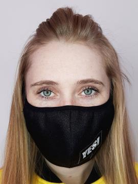 Фото товара: маска двухслойная 010 черный. Вид 1.