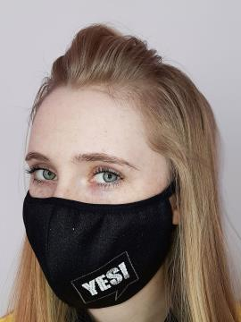 Фото товара: маска двошарова 010 чорний. Вид 2.