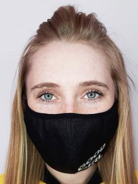 Фото товара: маска двошарова 011 чорний. Вид 1.