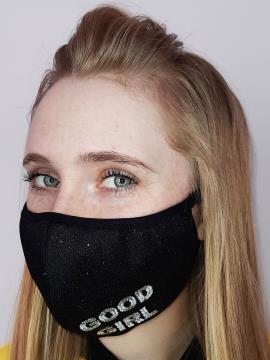 Фото товара: маска двухслойная 011 черный. Вид 2.