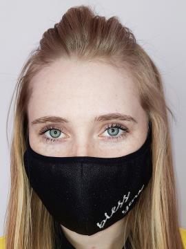 Фото товара: маска двухслойная 012 черный. Вид 1.