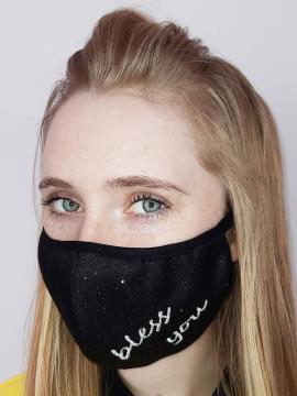 Фото товара: маска двухслойная 012 черный. Вид 2.