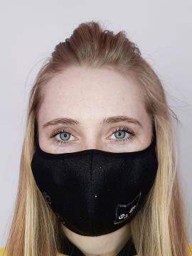 Фото товара: маска двошарова 013 чорний. Вид 1.