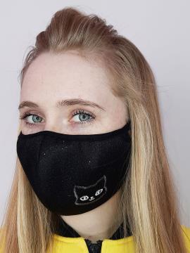 Фото товара: маска двошарова 013 чорний. Вид 2.