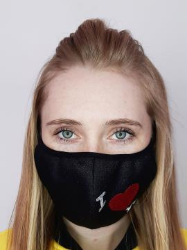 Фото товара: маска двошарова 014 чорний. Вид 1.