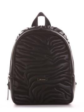 Модный рюкзак, модель 191551 черный. Изображение товара, вид спереди.