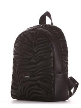 Модный рюкзак, модель 191551 черный. Изображение товара, вид сбоку.