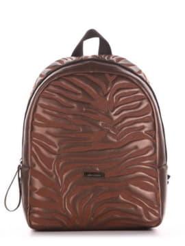 Стильний рюкзак, модель 191552 шоколадний-перламутр. Зображення товару, вид збоку.