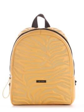 Шкільний рюкзак, модель 191556 жовтий. Зображення товару, вид збоку.