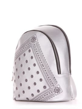 Шкільний рюкзак, модель 191573 срібло. Зображення товару, вид збоку.