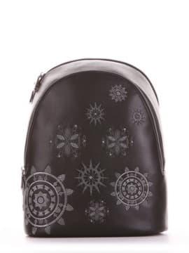 Шкільний рюкзак, модель 191574 чорний. Зображення товару, вид спереду.