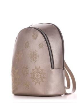 Шкільний рюкзак, модель 191576 золота олива. Зображення товару, вид збоку.