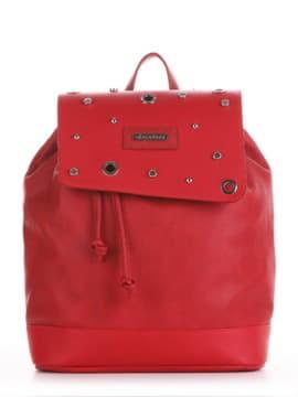 Стильний рюкзак, модель 191582 червоний. Зображення товару, вид збоку.