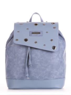 Шкільний рюкзак, модель 191583 бакитна хвиля. Зображення товару, вид збоку.