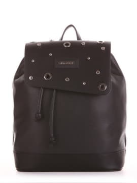 Жіночий рюкзак, модель 191586 чорний. Зображення товару, вид спереду.