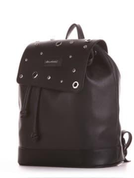 Жіночий рюкзак, модель 191586 чорний. Зображення товару, вид збоку.