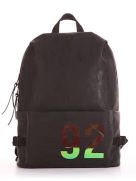 Жіночий рюкзак, модель 191611 чорний. Зображення товару, вид збоку.