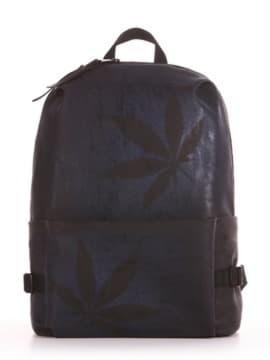 Модний рюкзак, модель 191613 чорний. Зображення товару, вид збоку.
