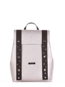 Школьный рюкзак, модель 191671 серебро. Изображение товара, вид сбоку.