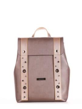 Школьный рюкзак, модель 191674 бронза. Изображение товара, вид сбоку.