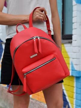 Школьный рюкзак, модель 191732 красный. Изображение товара, вид спереди.