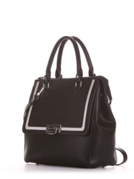 Модная сумка, модель 191521 черный. Изображение товара, вид сбоку.