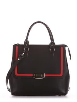 Школьная сумка, модель 191523 черный. Изображение товара, вид сбоку.