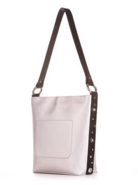 Стильная сумка, модель 191691 серебро. Изображение товара, вид сбоку.