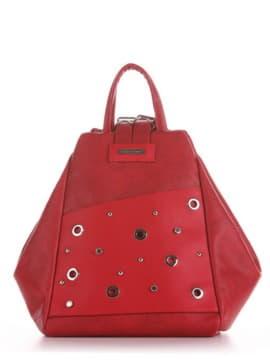 Брендовая сумка - рюкзак, модель 191592 красный. Изображение товара, вид сбоку.
