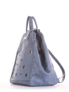 Школьная сумка - рюкзак, модель 191593 голубая волна. Изображение товара, вид сбоку.