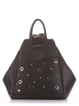 Модная сумка - рюкзак, модель 191596 черный. Изображение товара, вид сбоку.