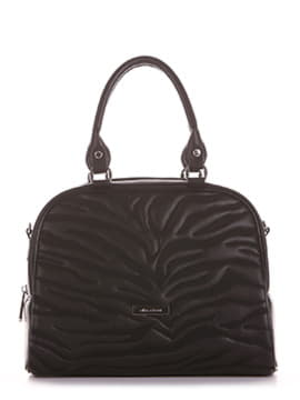Школьная сумочка с вышивкой, модель 191561 черный. Изображение товара, вид спереди.