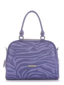 Школьная сумочка с вышивкой, модель 191563 сине-сиреневый. Изображение товара, вид сбоку.