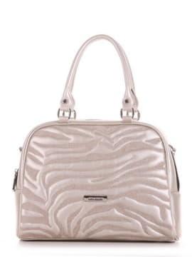 Школьная сумочка с вышивкой, модель 191565 жемчужный. Изображение товара, вид сбоку.