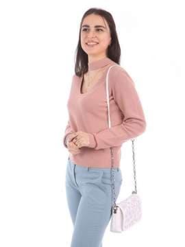 Модный клатч с вышивкой, модель 180154 белый. Изображение товара, вид сбоку.