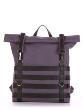 Женский рюкзак, модель 190183 серый. Изображение товара, вид спереди.