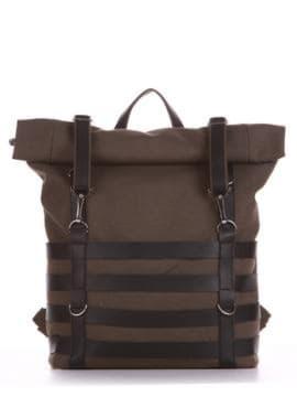 Женский рюкзак, модель 190185 хаки. Изображение товара, вид спереди.