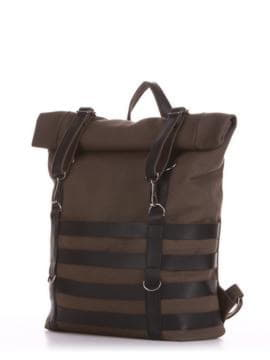 Женский рюкзак, модель 190185 хаки. Изображение товара, вид сбоку.