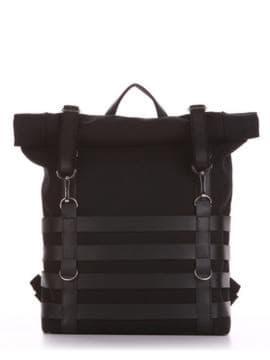 Летний рюкзак, модель 190186 черный. Изображение товара, вид спереди.
