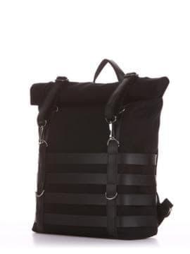 Летний рюкзак, модель 190186 черный. Изображение товара, вид сбоку.