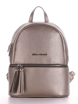 Брендовый рюкзак, модель 190231 золотая олива. Изображение товара, вид спереди.