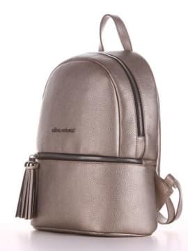 Брендовый рюкзак, модель 190231 золотая олива. Изображение товара, вид сбоку.