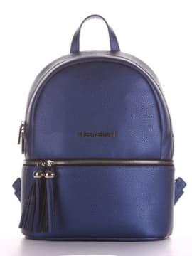 Модный рюкзак, модель 190232 сапфир. Изображение товара, вид спереди.