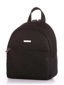 Стильный рюкзак, модель 190311 черный. Изображение товара, вид сбоку.