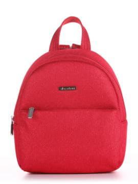 Женский рюкзак, модель 190313 красный. Изображение товара, вид спереди.