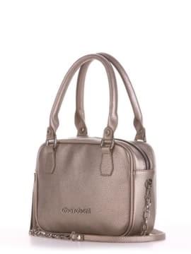 Модная сумка маленькая, модель 190241 золотая олива. Изображение товара, вид сбоку.