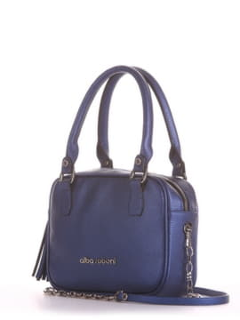 Модна сумка маленька, модель 190242 сапфір. Зображення товару, вид збоку.
